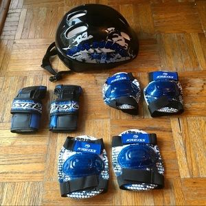 Rollerblade/skateboard/bicycle Protective Gear Set